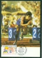 CM-Carte Maximum Card # France-1993 # Sport # Jeux Méditerranéens à Agde # Sprinter, Coureur,runner,Läufer # Montpellier - Maximum Cards
