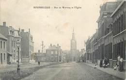 CPA 59 Nord Bousbecque Rue De Wervicq Et L'Eglise (un Peu Abimée) 1904 - Otros Municipios