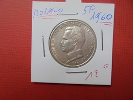 MONACO 5 Francs 1960 ARGENT - Monaco
