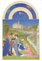 Art - Peinture - Les Très Riches Heures Du Duc De Berry - Avril - Fiançailles - Château De Dourdan - Musée Condé De Chan - Malerei & Gemälde