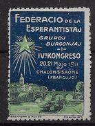 France - Vignette Esperanto Châlons Sur Saone - Neuf (*) - B/TB - Commemorative Labels