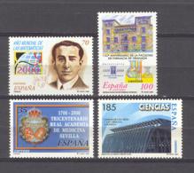 Spain 2000. Ciencias Ed 3708-11 (**) - 1931-Today: 2nd Rep - ... Juan Carlos I
