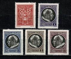 Vaticane 1940  Mi 84/88*, Yv. 90/94* MH  (2 Scans) - Nuevos