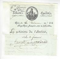 Nicolas François De Neufchâteau (1750-1828) EMPIRE AUTOGRAPHE ORIGINAL AUTOGRAPH 1798 /FREE SHIP. R - Autógrafos