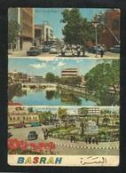 IRAQ Picture Postcard Basrah 3 Scene Revolution Street Ashar Creek Lion Of Babylon View Card - Saudi Arabia