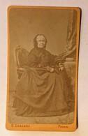 OLD CARDBOARD PHOTO   LUZZATTO   FIUME       10,5 X 6,5 - Alte (vor 1900)