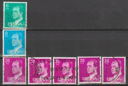 MiNr. 2306, 2308, 2309  Spanien 1977, 6. Juni/1987, Dez. Freimarken: König Juan Carlos I. RaTdr.; X = Normales Papier, - 1931-Heute: 2. Rep. - ... Juan Carlos I