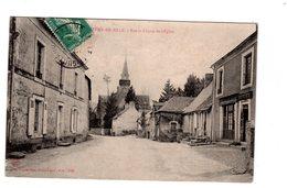 CPA 72 - Saint Remy De Sillé - Rue Et Chevet De L'eglise - France