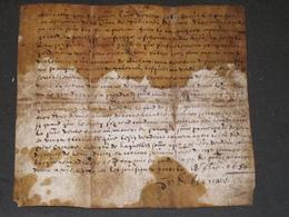 PARCHEMIN (VELIN)  MANUSCRIT - DATE DE 1650 - SIGNE - VOIR SCAN - Historische Dokumente