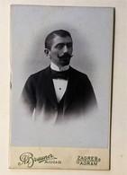 OLD CARDBOARD PHOTO  BRAUNER  ZAGREB      10,5 X 6,5 - Photographs