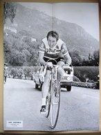 CYCLISME Affiche De JOOP ZOETEMELK Dédicacée Paris Nice 1973 La Turbie - Cyclisme