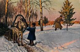 """M. Guermacheff. """" Dans La Forêt Au Soir"""" - Ukraine"""