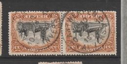 COB 142 En Paire Oblitération Centrale ANTWERPEN 10A - 1915-1920 Albert I