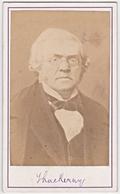 CDV WILLIAM MAKEPEACE THACKERAY NOVELIST Antique Photograph, Carte Visite - Photographs