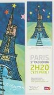 FRANCE 2007 MARQUE PAGE TOMI UNGERER LANCEMENT TGV EST EUROPEEN TOUR EIFFEL PARIS CATHEDRALE DE STRASBOURG SNCF - Trains