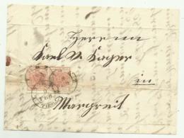 COPPIA  FRANCOBOLLI  3 KREUZER 1853 LIENZ   SU FRONTESPIZIO - 1850-1918 Impero