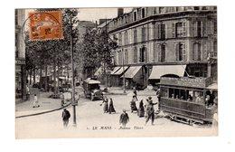 """CPA 72 - Le Mans  - Avenue Thiers , Beau Plan Tramway """" Au Bon Marché """" - Le Mans"""