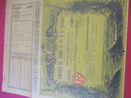 Certificat D'Obligations Nominatives/ Compagnie Des Chemins De Fer De La PROVENCE/1929  ACT184 - Chemin De Fer & Tramway