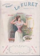"""Vers 1900 Nouveau Corset """"le Furet"""" élégance,souplesse ,hygiène,qui Ne Comprime Pas ! (femme , Mode) - Publicités"""