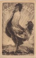 - CPA BONNE ANNEE 1919 - Très Belle Carte Gaufrée, Non Circulée - Neujahr