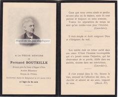 FERNAND BOUTEILLE, AMI PAUL CÉZANNE, BATONNIER AIX EN PROVENCE. Puyricard. Faire Part Photo - Décès