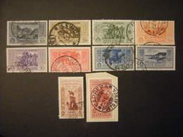 SVENDITA 1932 - GARIBALDI , Serie Compl. Usata , 10 Val. TTB,  OCCASIONE - 1900-44 Vittorio Emanuele III