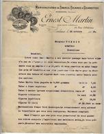 ERNEST MARTIN    BORDEAUX  Manufacture De Tabacs Et Cigares à Rosendaal Offre Du 13 Octobre 1919 - Niederlande