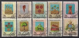 San Marino  (1968)  Mi.Nr.  903 - 912  Gest. / Used  (2af01) - Gebraucht