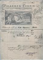 S.BOCK & C°  Cigarren-Fabrik    GIESSEN   Invoice To Herr Anton  Bemmann FLOCHA  6 Juni 1906 - 1900 – 1949