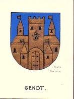 Tekenles Heraldiek Gendt Klas Den Haag ± 1938 Door Frans Barrois (verf) 12½ X 9½ Cm (Gra-71) - Old Paper