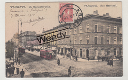 Warszawa-Varsovie (Rue Maréchal Avec Tram) - Pologne