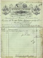 REICHLING & EBERHARD Fabricants De Moules à Cigares  HANAU Sur MEIN  Rechnung 18 Mai 1907 - Deutschland