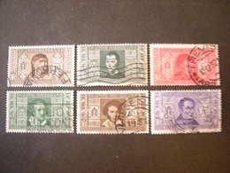 1932 - Alighieri ,lotto 6 Val. Usati, TTB. Occasione - 1900-44 Vittorio Emanuele III