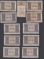 Lotto Di 11 Banconote Regno D'Italia Da 1 E 2 Lire - Verzamelingen