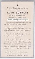 Faire Part LOUIS DUMALLE, 1914. - Décès