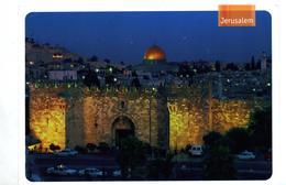 Carte Jerusalem   Timbre Ha'chizbatron Circulé - Israel