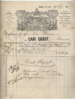 GRÄFF CARL  Cigarren  BINGEN An RHEIN  Rechnung Fur Louis Wohmann In Rennerod  16 Mai 1872 - Deutschland