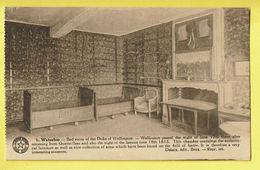 * Waterloo (Waals Brabant - Brabant Wallon) * (Desaix, Nr 1) Bed Room Of The Duke Of Wellington, Lit, Bed, Rare - Waterloo
