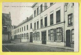* Brugge - Bruges (West Vlaanderen) * (nr 10814) Institut Des Soeurs De Saint Joseph, Rue D'Argent, Façade, école, TOP - Brugge