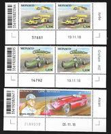 Monaco 2019 - Yv N° 3169/70 - 3171 & 3172 ** Voitures Et Pilote Mythiques (coin Daté) - Monaco