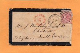 Brighton UK 1874 Cover Mailed To USA - 1840-1901 (Victoria)