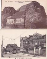 283316Eu, Hotel De La Gare Et La Gare - Champ De Mars Les Vieilles Tours (2 Cartes) - Eu