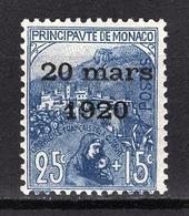 MONACO 1919 / 1921 -  Y.T. N° 40  -  NEUF** 1 - Monaco