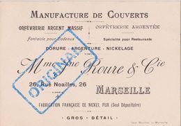 1906. MARSEILLE ROURE ORFEVRERIE COUVERTS ARGENT. Rue Noailles. - 1900 – 1949