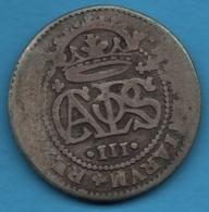 ESPANA 2 Reales Charles III Philippe V Pretender Argent 833‰ Silver CAROLVS III - [ 1] …-1931 : Kingdom