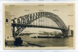 New South Wales SS Delphic White Star Line Pre 1935 Postcard RARE WSL Vessel Sydney Harbour Bridge - Sydney