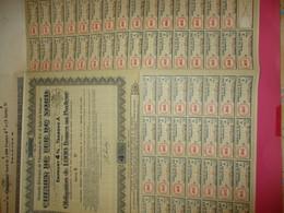 Obligation De 1000 Francs 4 %  Au Porteur/Emprunts 4%/  Chemin De Fer Du Nord /1931    ACT187 - Chemin De Fer & Tramway