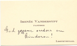 Visitekaartje - Carte Visite - Pastoor Irenée Vandersypt - Lotenhulle - Cartes De Visite
