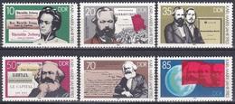 Deutschland Germany DDR 1983 Geschichte History Persönlichkeiten Karl Marx Friedrich Engels Lenin Kapital, Mi. 2783-8 ** - Unused Stamps
