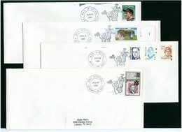 USA - TERRY - BROCKWAY - MILDRED - FALLON - SERVIZIO POSTALE A CAVALLO - PONY EXPRESS - FAR WEST    4 Covers - Posta
